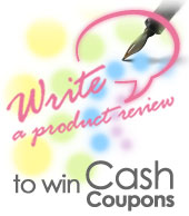write a product review to win cash coupons